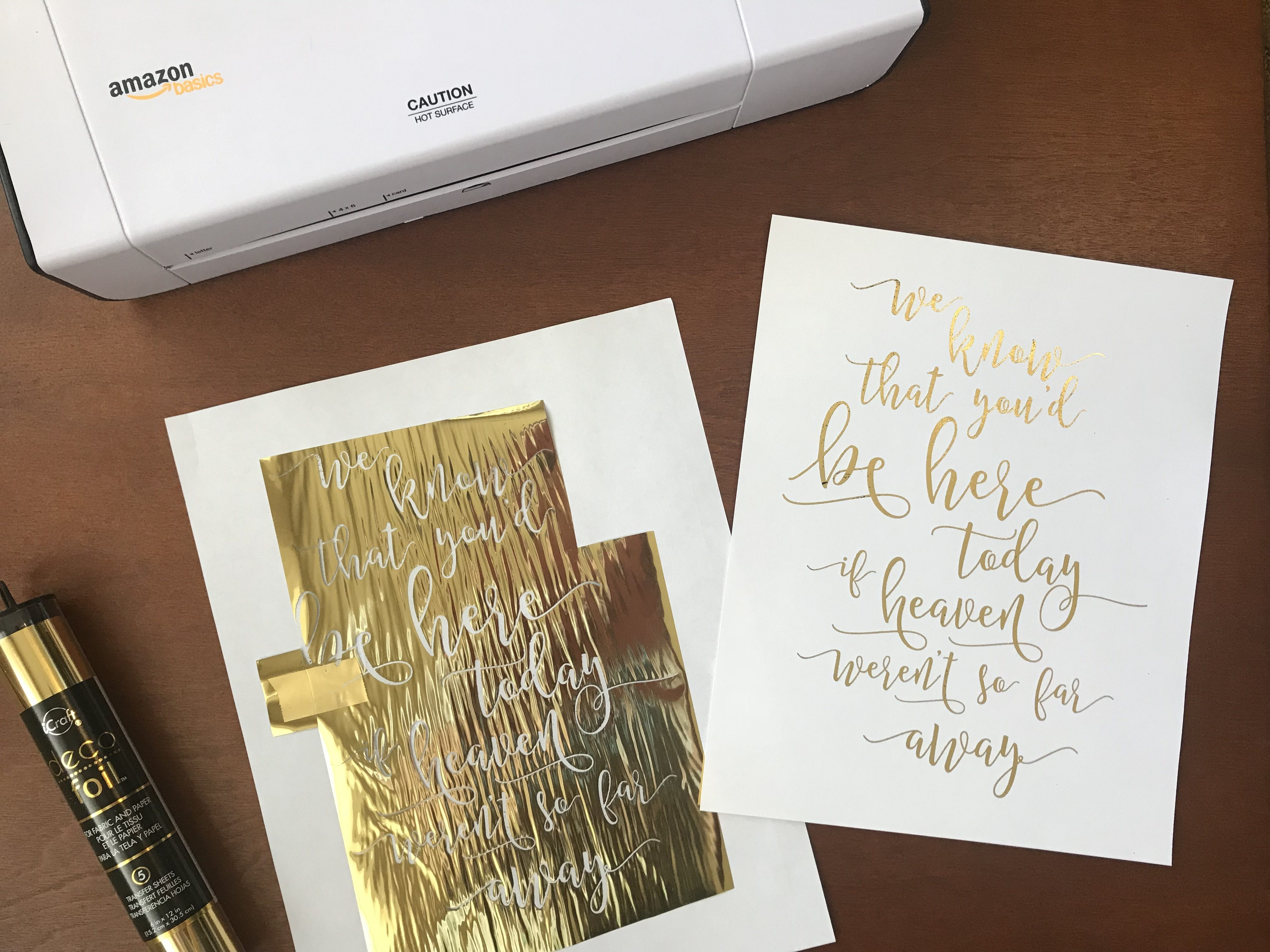 Diy Gold Foil For Signs And Invitations Handmade And Homegrown