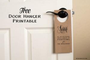 free wedding door hanger printable handmade and homegrown